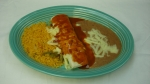 Special No. 2 - Burrito, rice and beans.